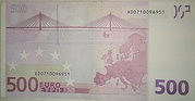 500 Euro – reverse
