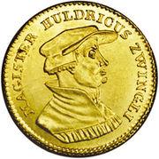 1 Ducat (Huldrych Zwingli) – obverse