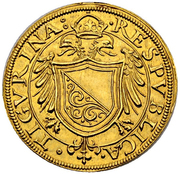 Goldkrone (Large shield) – obverse