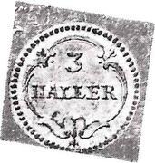 3 Haller (Klippe) – reverse