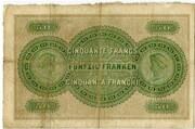 50 Francs (Zürcher Kantonalbank) – reverse