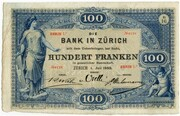 100 Francs (Bank in Zürich) – obverse