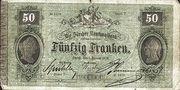 50 Francs (Zürcher Kantonalbank) – obverse