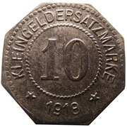 10 Pfennig - Zwickau – reverse