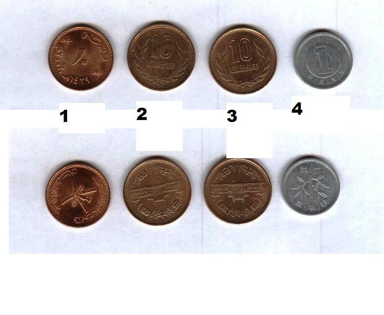 Help to identify coins / Aide à identifier les pièces de monnaie