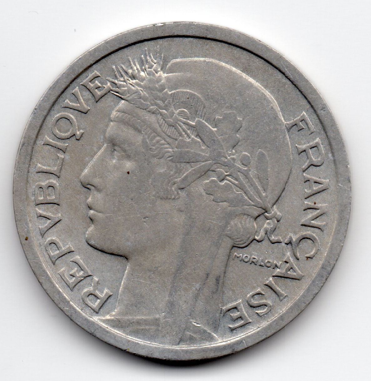 1943 french 1 franc aluminium numista for France francs