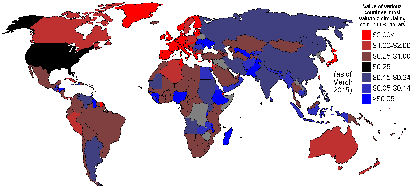 MAP - Relative values of every country's highest-valued