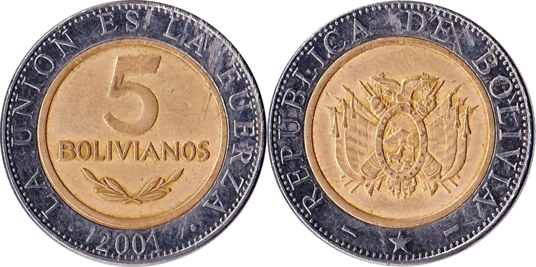 World coins chat: Bolivia
