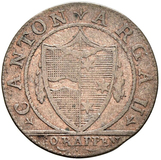 Picture 1 of a sold 1 Batzen / 10 Rappen (pointed shield)