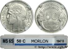 Picture 1 of a sold 50 Centimes (light type)