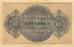 Picture 1 of a sold 10 Francs - Federal Treasury (French text)