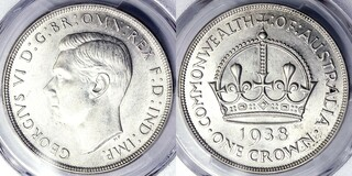 Picture 1 of a sold 1 Crown - George VI (Coronation)