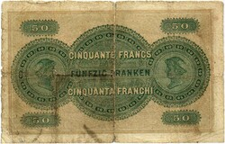 Picture 1 of a sold 50 Francs (Bank in Basel)