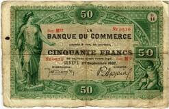 Picture 1 of a sold 50 Francs (Banque du commerce de Genève)